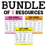 CVC Word Worksheets Bundle