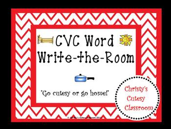 CVC Word Write-the-Room