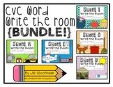CVC Word Write the Room BUNDLE {short vowels} #tptgoesgold