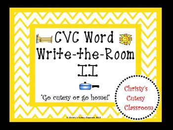 CVC Word Write-the-Room II