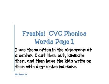 CVC Word Writing