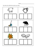CVC Word Writing from Pictures