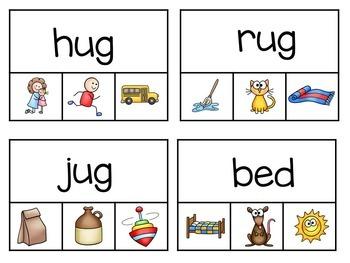 CVC Words / Word Work / Clip Cards