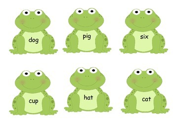 CVC Word and Picture Match Game- Frog Theme!