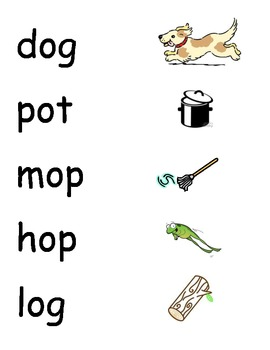 CVC Word and Picture Matching Game