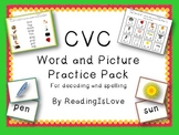 CVC Word and Picture Practice Pack