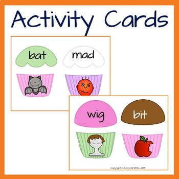 CVC Word and Picture match- mixed vowels