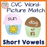 Phonics Short Vowel Word and Picture Match Bundle