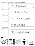 CVC Word and Sentence Packet 1&2 Bundle
