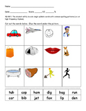 CVC Word to Picture Match VAAP 4th grade