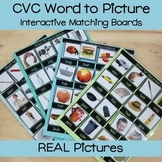 CVC Word to Picture Match with REAL Pictures
