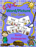 CVC Word/Picture Clip Cards  Distance Learning