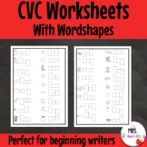 CVC Wordshapes Worksheets For Initial, Medial and Final Sounds Practice