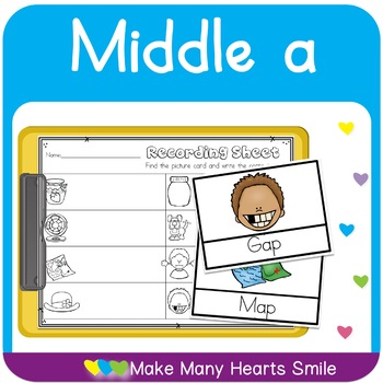 Middle A Worksheets and Cards