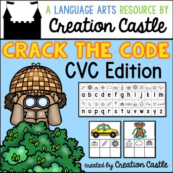 CVC Words Secret Code Word Work