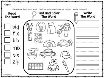 CVC Words / Short Vowels / Activities and Printables