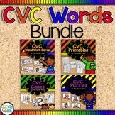 Short Vowel Activities Bundle with CVC Games, Word Work Ca