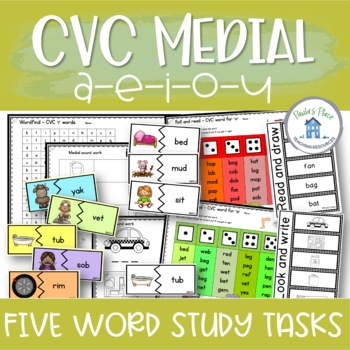 CVC Words - 5 Tasks