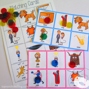 CVC Words Activities And Games Set 5