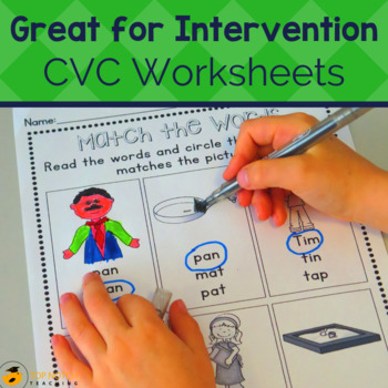 CVC Words Activities and Worksheets Set 1
