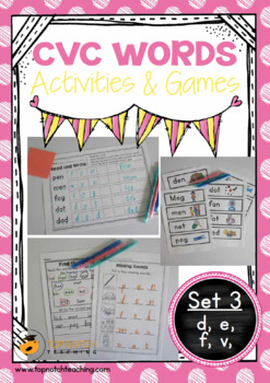 CVC Words: Activities & Games Set 3