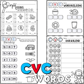 Short Vowel Activities, Printables, and Games