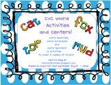 CVC Words Activities and Centers!