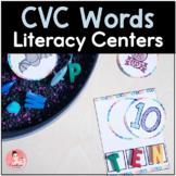 CVC Word Activities for Kindergarten Literacy Centers