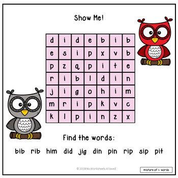 Short 'i' Vowel CVC Words Activity