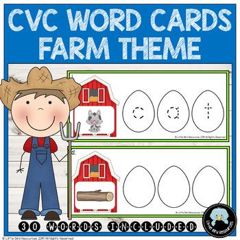 CVC Words Activity with Farm Theme