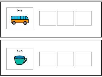 CVC Words Adapted Book/File Folders