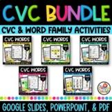 Kindergarten CVC Word Packets for All Short Vowels on Goog