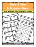 CVC Words BINGO Make & Take, SPEECH THERAPY, Apraxia