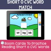 CVC BOOM CARDS | short vowel practice | short o task cards