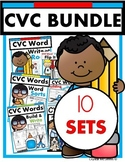 CVC Words BUNDLE! Half Price (puzzles, printables, games, literacy stations)