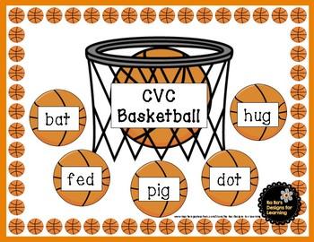 CVC Words Basketball Game