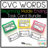 CVC Words Beginning Middle and Ending Sound Writing Bundle