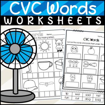 CVC Words- Beginning/Middle/Ending Sounds: Sorts, Workshee