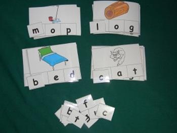 CVC Words Beginning Sounds Literacy Center Classroom Resource tool- Hard good