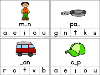 CVC Words - Beginning Sounds, Middle Sounds & Ending Sounds