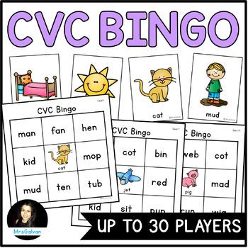 #HoppyHalfDeals CVC Words Bingo Game for Word Reading Practice