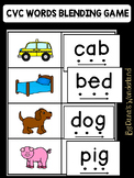 CVC Words Center: Read and Match Game
