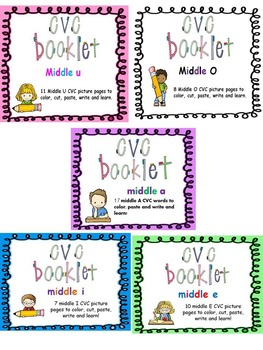 CVC Words Booklet Bundle (save $4 by purchasing all 5 books in 1!)