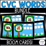 CVC Words Boom Cards BUNDLE Build a Word for Distance Learning
