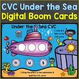CVC Words Boom Cards Ocean Summer Theme Digital Distance Learning