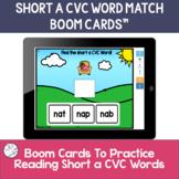 CVC BOOM CARDS | short vowel practice | short a task cards