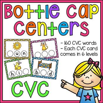 CVC Words Bottle Cap Centers BUNDLE