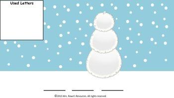 CVC Words Build A Snowman