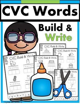 CVC Words! Build It, Write It, Printables for Each Vowel