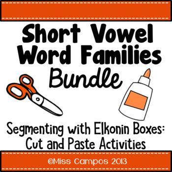 CVC Words Bundle: Short A, Short E, Short I, Short O, Short U Word Families